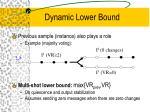 dynamic lower bound
