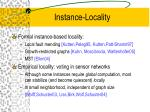 instance locality