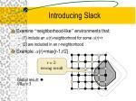 introducing slack