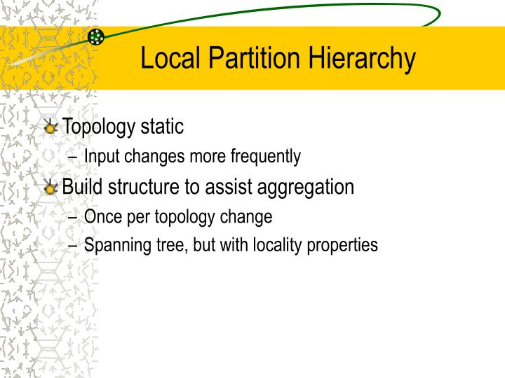 Local Partition Hierarchy