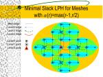 minimal slack lph for meshes with a r max r 1 r 2