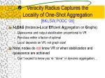 veracity radius captures the locality of one shot aggregation bklsw podc 06