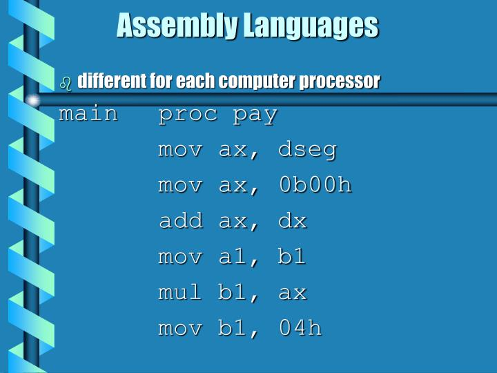 Assembly Languages