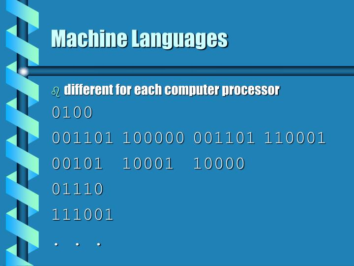 Machine Languages