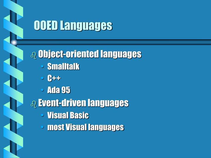 OOED Languages