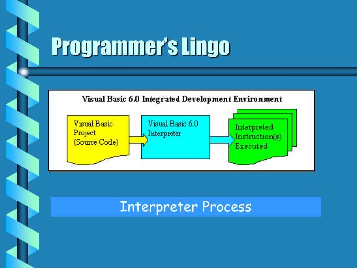 Programmer's Lingo
