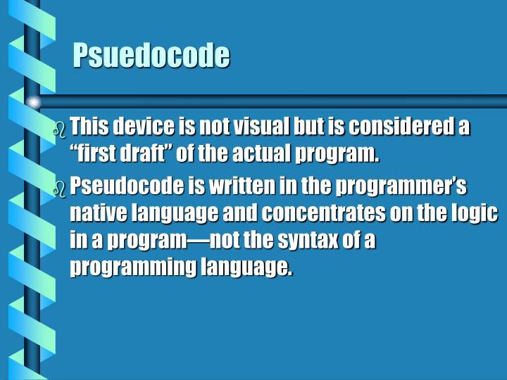 Psuedocode
