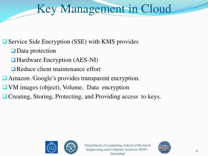 Key Management in Cloud