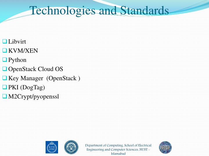 Technologies and Standards