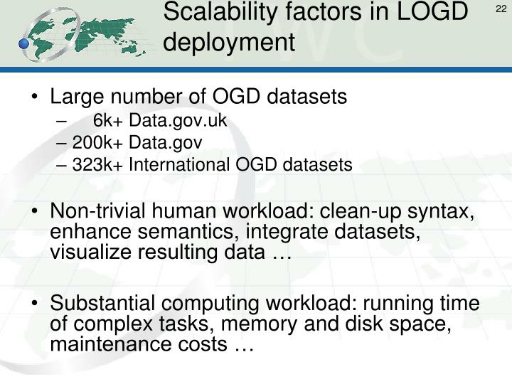 Scalability factors in LOGD deployment