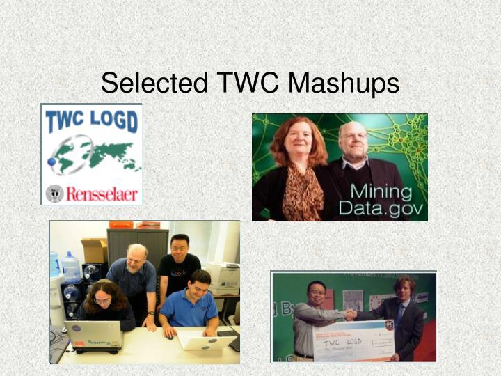 Selected TWC Mashups