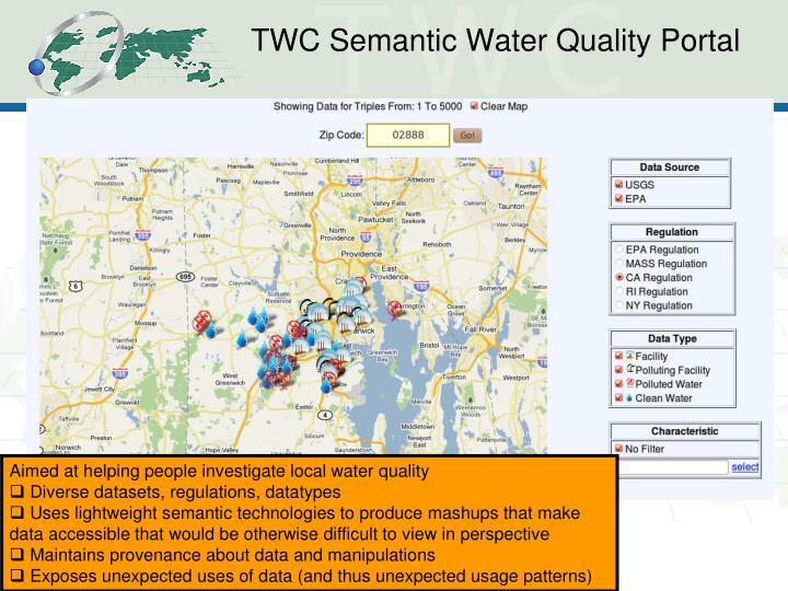 TWC Semantic Water Quality Portal