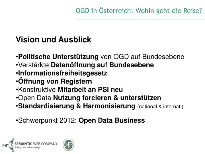OGD in Österreich: Wohin geht die Reise?