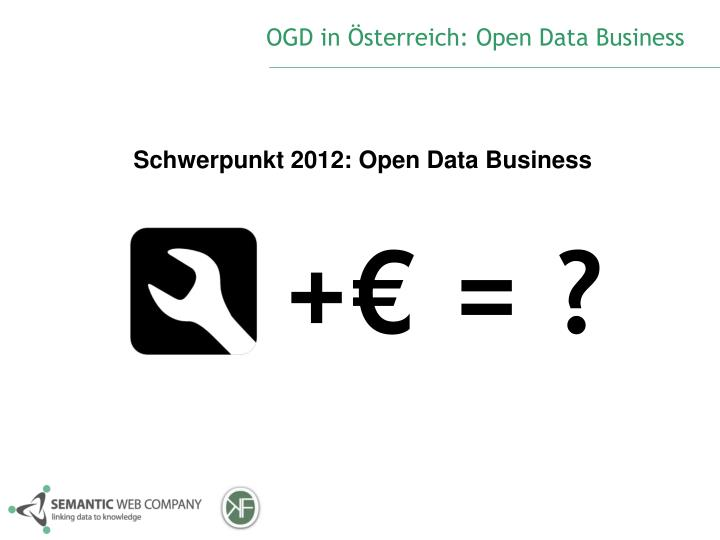 OGD in Österreich: Open Data Business