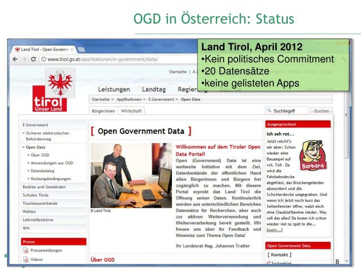 OGD in Österreich: Status