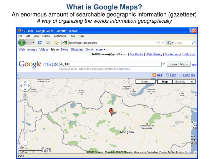 What is Google Maps?