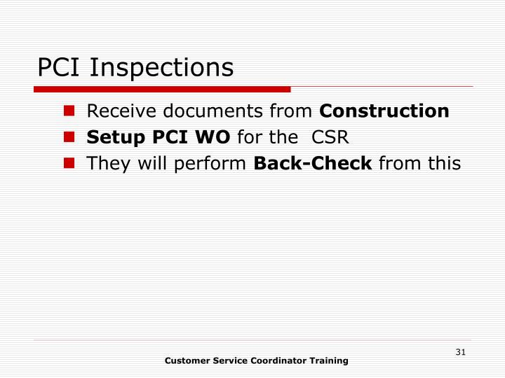 PCI Inspections