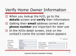 verify home owner information