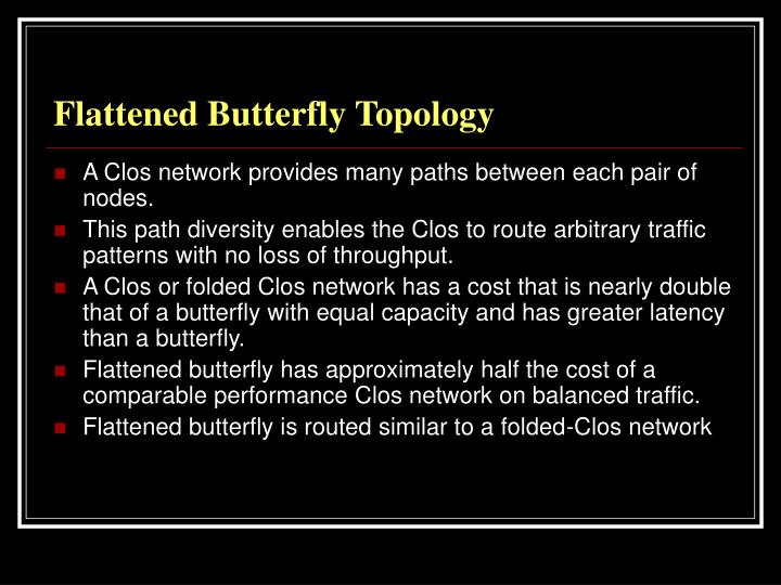 Flattened Butterfly Topology