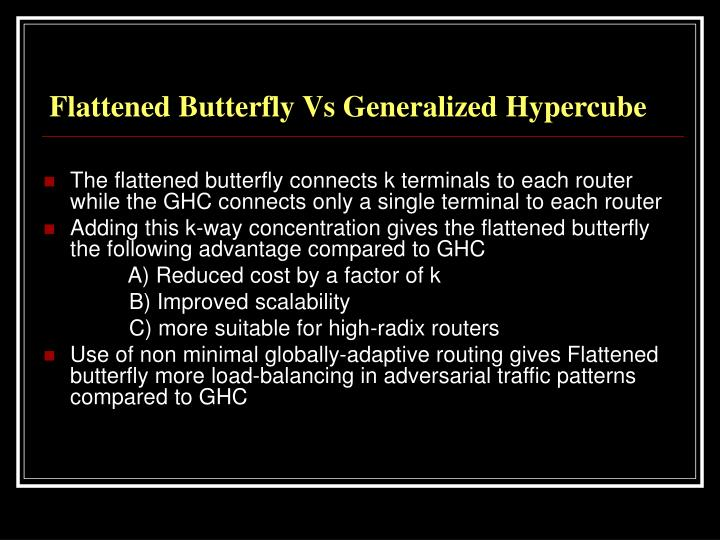 Flattened Butterfly Vs Generalized Hypercube