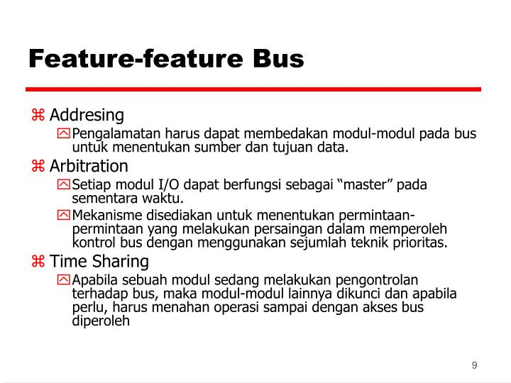 Feature-feature Bus