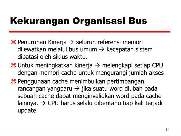 Kekurangan Organisasi Bus