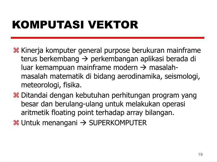 KOMPUTASI VEKTOR