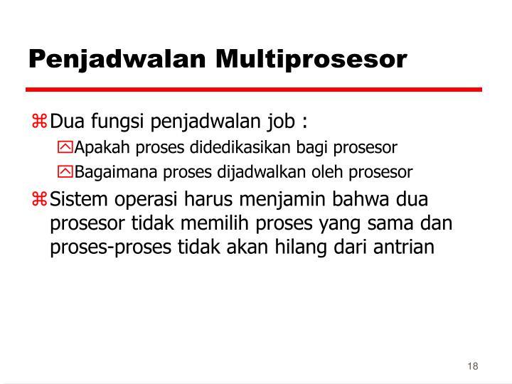 Penjadwalan Multiprosesor