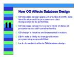 how oo affects database design