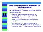 how oo concepts have influenced the relational model1