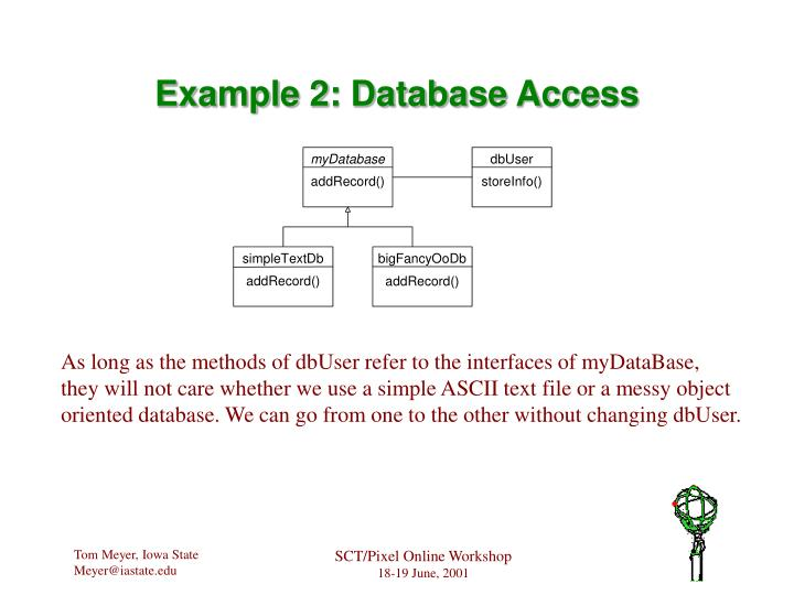 Example 2: Database Access