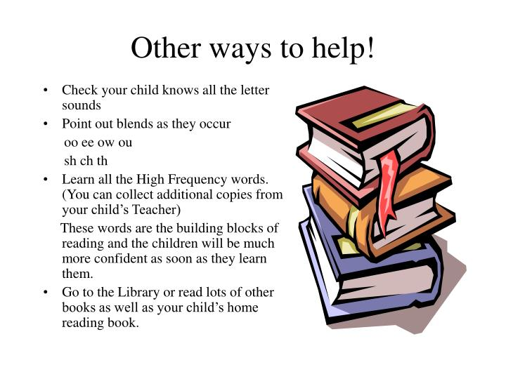 Other ways to help!