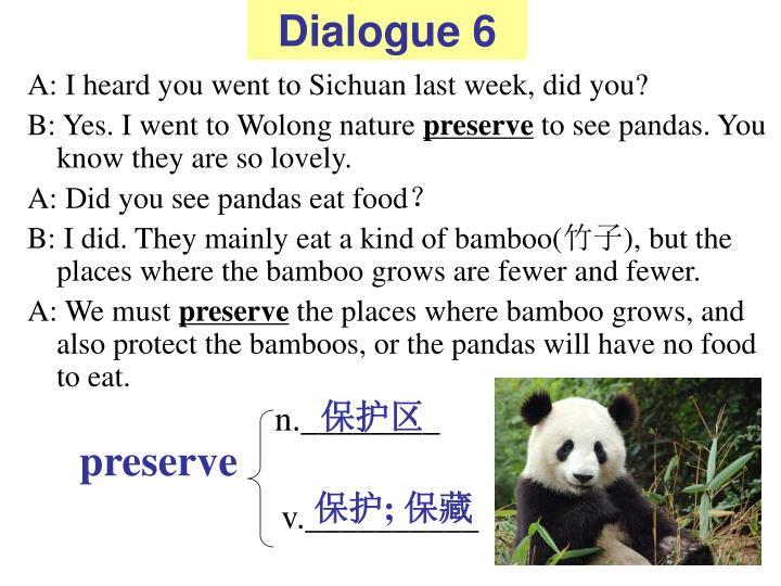 Dialogue 6