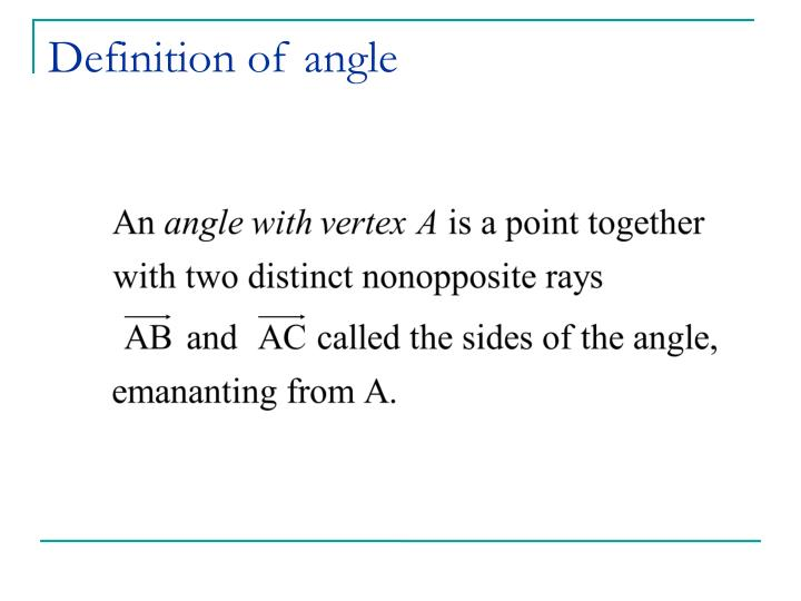 Definition of angle