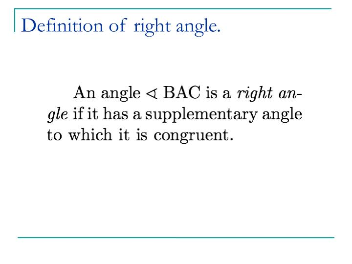 Definition of right angle.