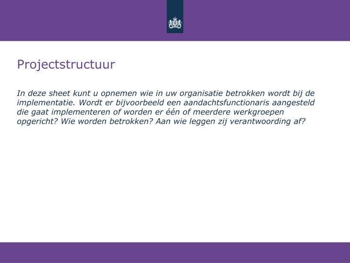 Projectstructuur