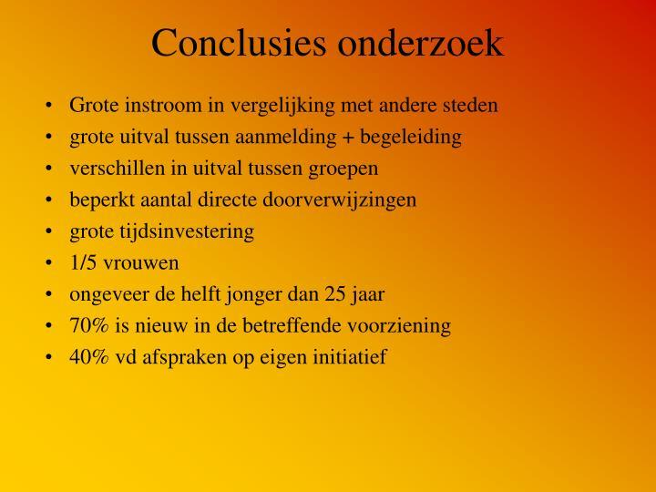Conclusies onderzoek