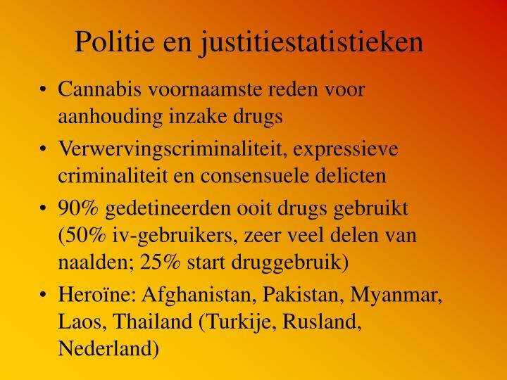 Politie en justitiestatistieken
