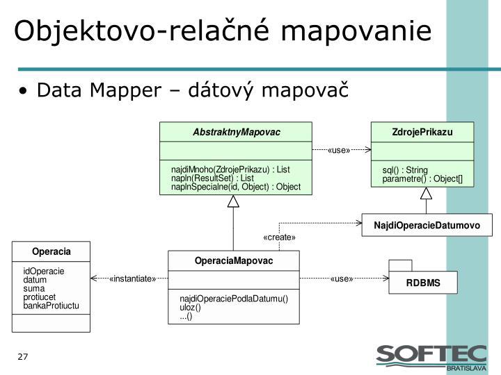Objektovo-relačné mapovanie