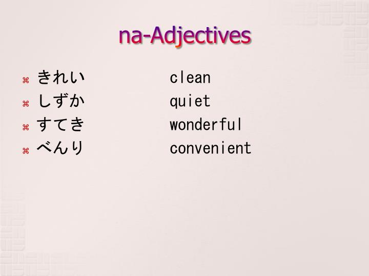 na-Adjectives