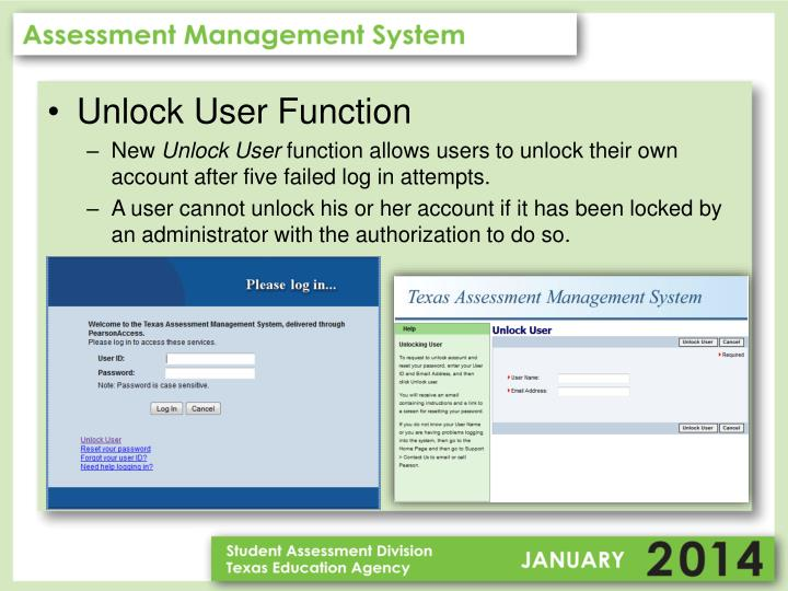 Unlock User Function