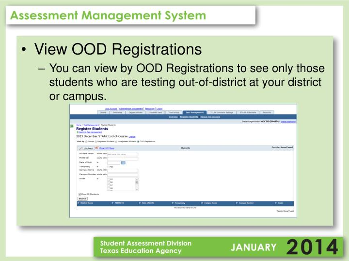 View OOD Registrations