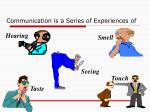 communication is a series of experiences of