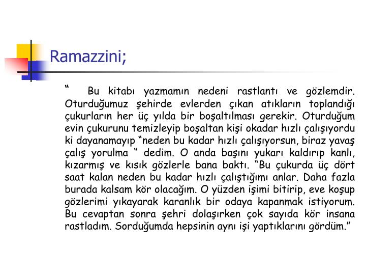 Ramazzini;