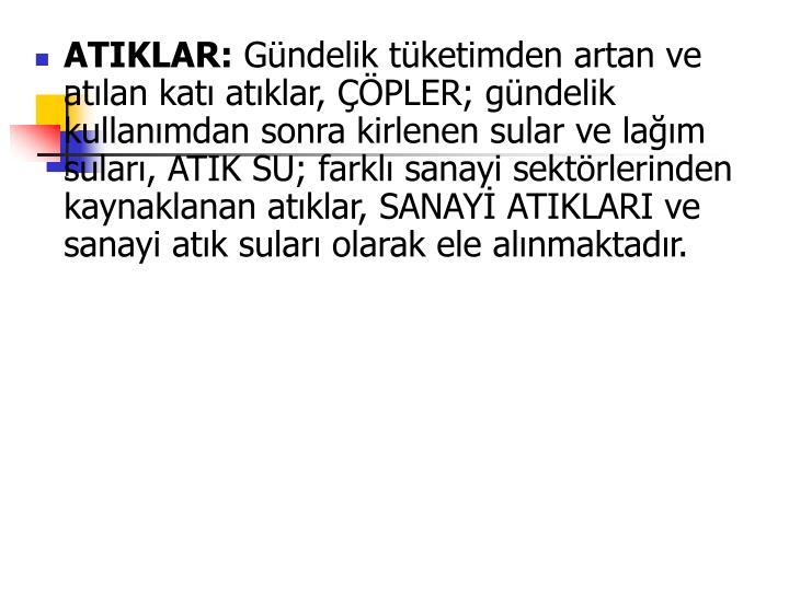 ATIKLAR:
