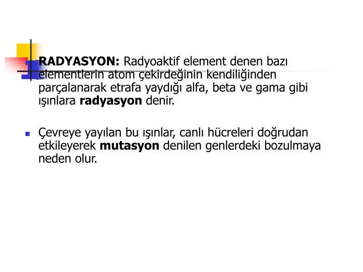 RADYASYON: