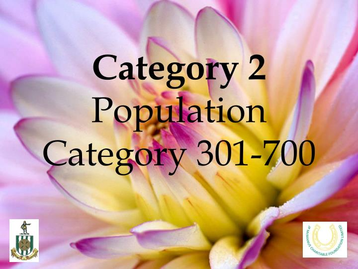 Category 2 population category 301 700