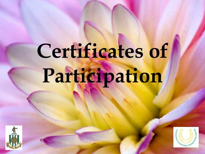 Certificates of participation