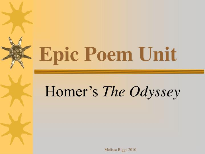 Epic poem unit