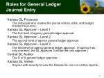 roles for general ledger journal entry